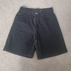 Vtg Levis 950 Black Jean Shorts